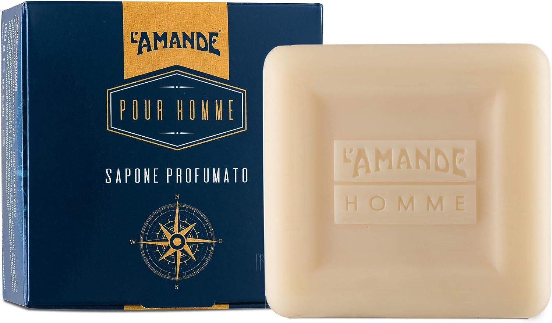 L'Amande - Jabón perfumado para hombre, en caja de regalo, 150 ml