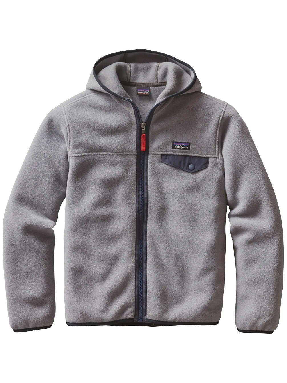 Patagonia Boys' Lightweight Synchilla Snap-T Fleece Hoodie (M, Feather Grey) by Patagonia