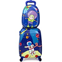 """Sandinrayli Kid Luggage Set, 12"""" Backpack & 16"""" Kid Carry on Suitcase with Spinner Wheels, Travel Rolling Luggage for…"""