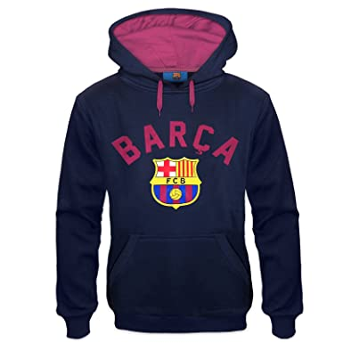 FC Barcelona Official Soccer Gift Mens Graphic Fleece Hoody Small