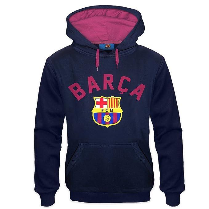 FC Barcelona - Sudadera oficial con capucha - Para hombre - Con el escudo del club - Forro polar: Amazon.es: Ropa y accesorios