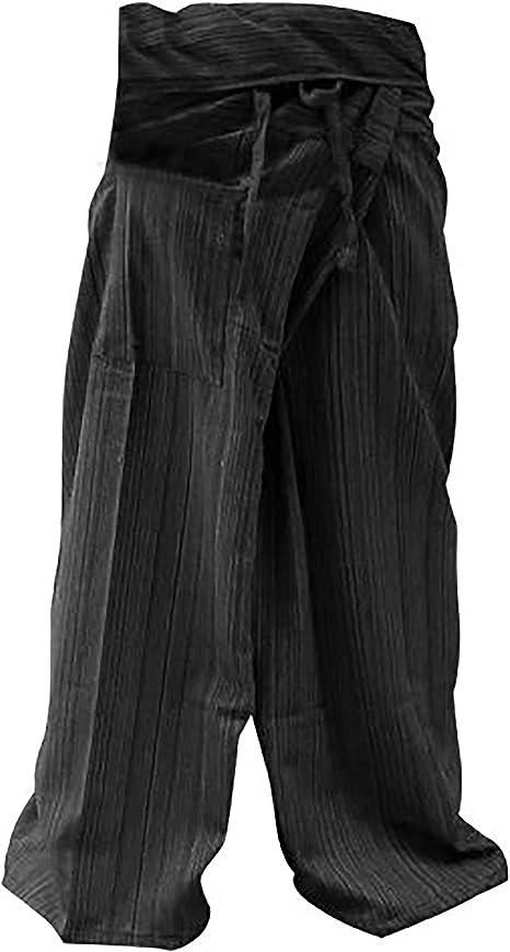Pescador Pantalones Tailandeses Pantalones Tamaño Libre Yoga Algodón: Amazon.es: Deportes y aire libre