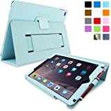iPad Air 2 Case, Snugg - Baby Blue Leather Smart Case Cover [Lifetime Guarantee] Apple iPad Air 2 Protective Flip Stand Cover with Auto Wake / Sleep