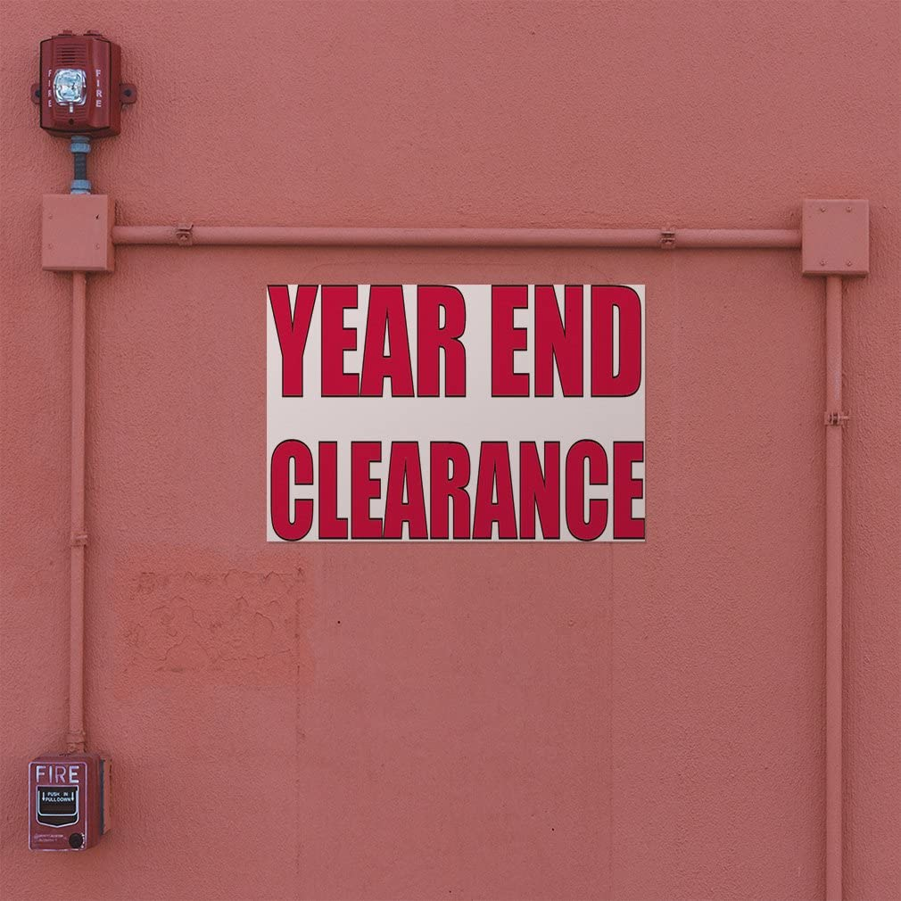 54inx36in Set of 2 Decal Sticker Multiple Sizes Year End Clearance #2 Business Year Outdoor Store Sign White