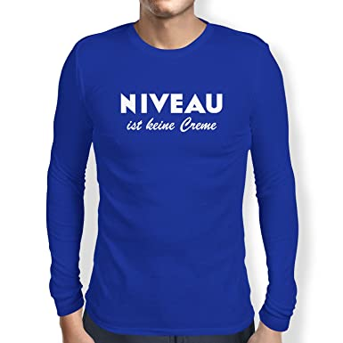 Texlab Niveau ist Keine Creme - Herren Langarm T-Shirt, Größe S, Marine
