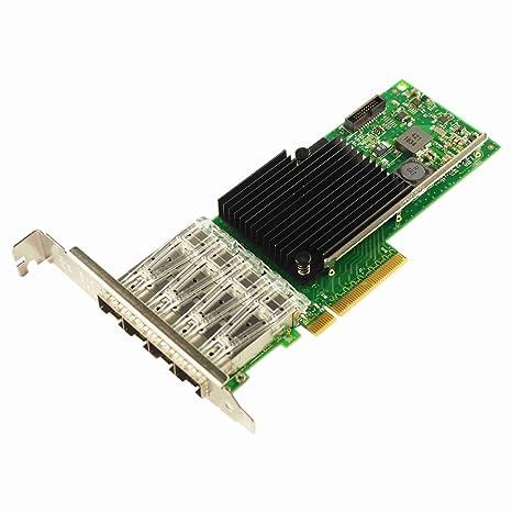 Semoic Tarjeta de Red NIC PCI-E de 10 Gb, para X710-DA4 con ...