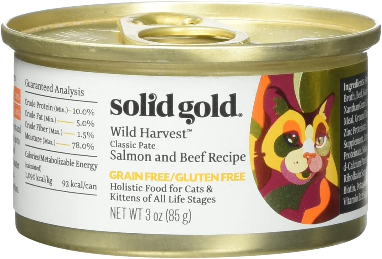 Solid Gold Flavorful Feast Salmon Beef Recipe in Gravy Holistic Grain Free Canned Cat Food