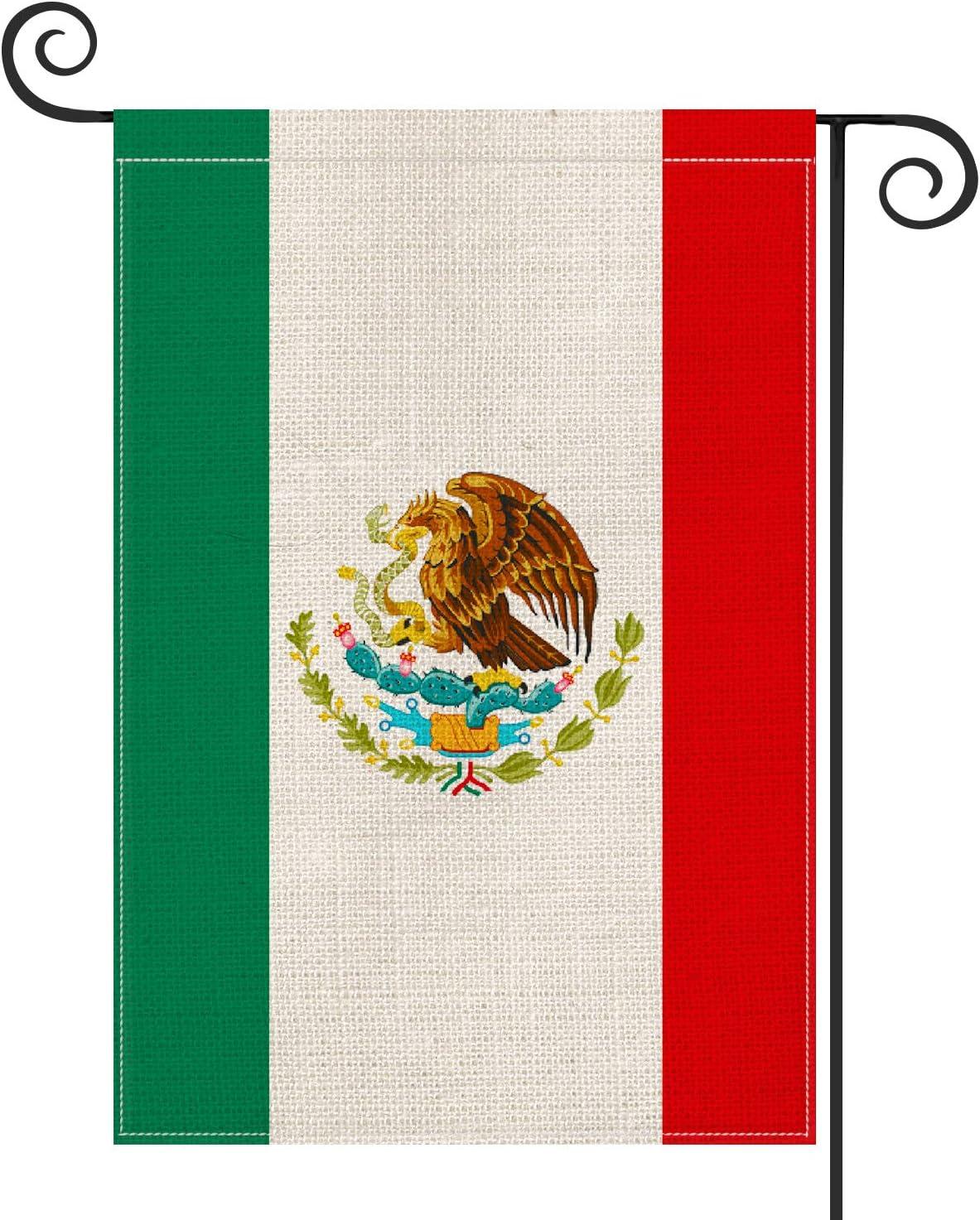 AVOIN Mexican MX National Garden Flag Vertical Double Sized, Día de independecia Yard Outdoor Decoration 12.5 x 18 Inch