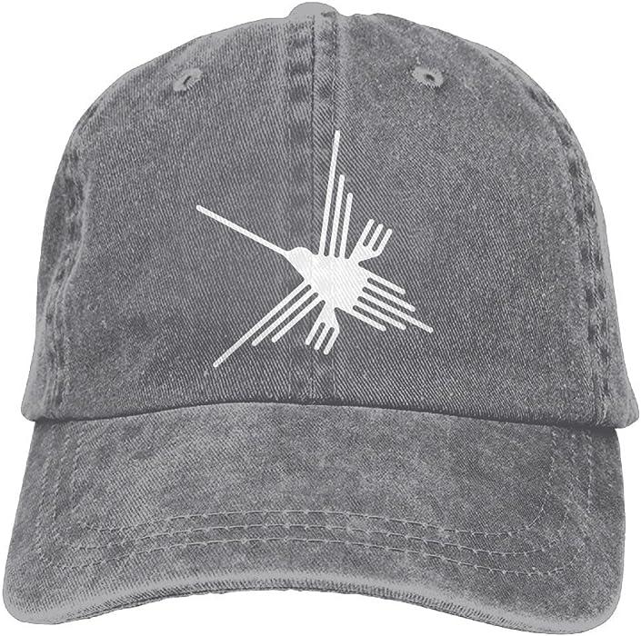 ad58fb23087 Amazon.com  Yzksgy Cap Nazca Lines Hummingbird Mens Snapback Cowboy Caps  Printed Hip-Hop Cowboy Baseball Hats  Clothing