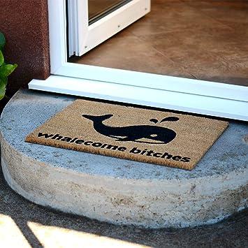 CKB LTD/® WHALECOME Bitches Nouveaut/é Doormat Unique Paillasson Coco Naturel Int/érieur//Ext/érieur Tapis Dentr/ée en Coco CASA en Couleur Nature Fabriqu/é avec Un PVC Support Non-d/érapant