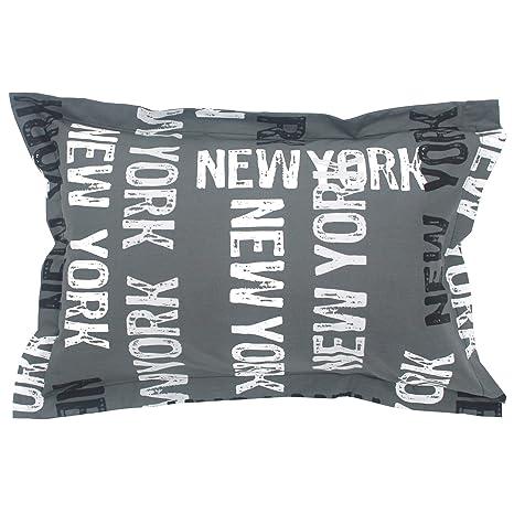 NEW YORK-Funda de almohada algodón, 70 x 50 cm