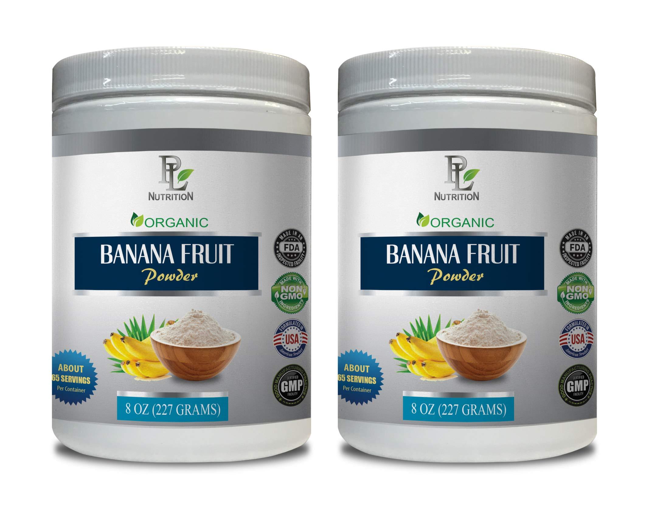 Energy Booster for Men - Banana Fruit - Organic Powder - Banana Extract Bulk - 2 Cans 16 OZ (130 Servings)
