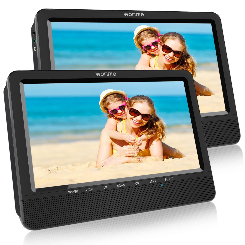 Amazon.com: WONNIE 10.5\'\' Portable DVD Player Dual Screen for Car ...
