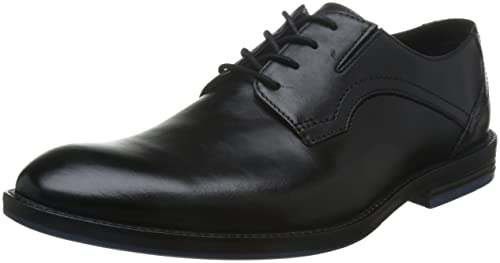 Clarks Un Walk - Zapatos de cordones, color Negro, talla 10 UK H