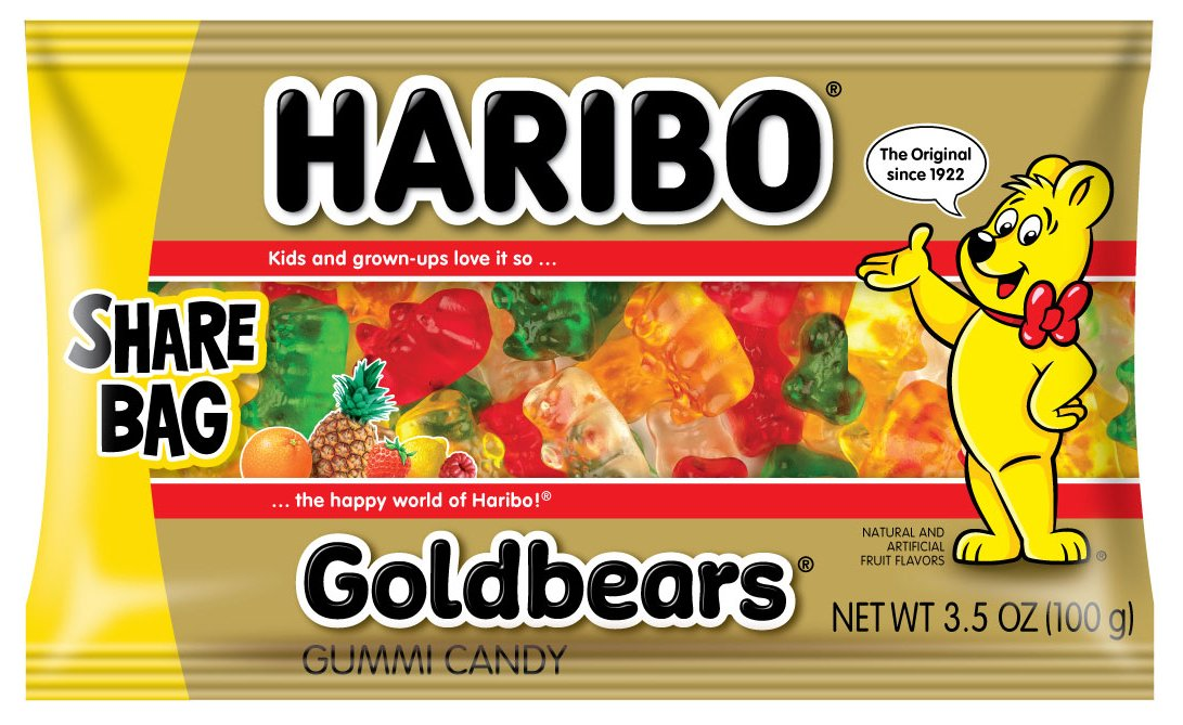 Haribo Gold-Bears 3.5 oz. Share Bag, (Pack of 18) by Haribo (Image #1)