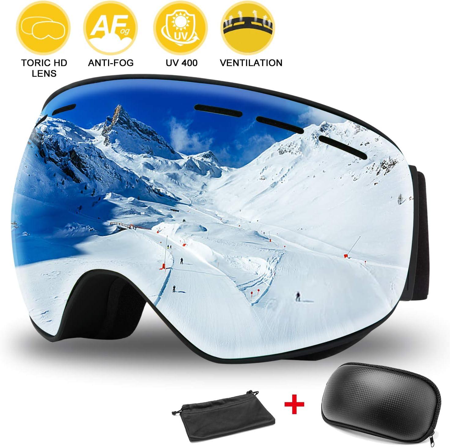 protecci/ón UV antivaho y Resistente al Viento Gafas de Sol para Motocicleta m/áscara para Deportes al Aire Libre