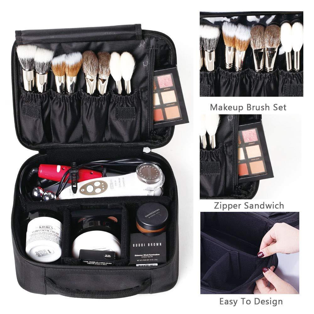 Amazon.com  ROWNYEON Portable Travel makeup bag Makeup Case Mini Makeup  Train Case 9.8   (White edge)  Beauty 1ec1e860d0