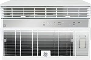 GE AHY12LZ Smart Window Air Conditioner with 12000 BTU Cooling Capacity, WiFi Connect, 3 Fan Speeds, 115 Volts, in White