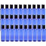 Bekith 30 Pack 4oz Plastic Squeeze Bottles with Disc Top Flip Cap, BPA-Free Blue Refillable Containers For Shampoo, Lotions,