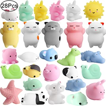 Mochi Animals Squeeze Toy, Outee 28 Piezas Mini Squishies Mochi ...