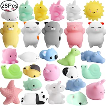 Mochi Animals Squeeze Toy, Outee 28 Piezas Mini Squishies ...