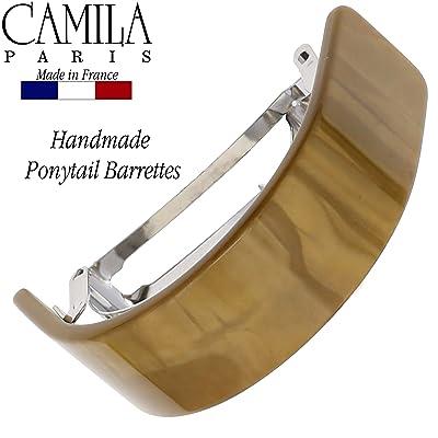 Camila Paris CP2665 Classic Black French Hair Barrette Automatic Clasp