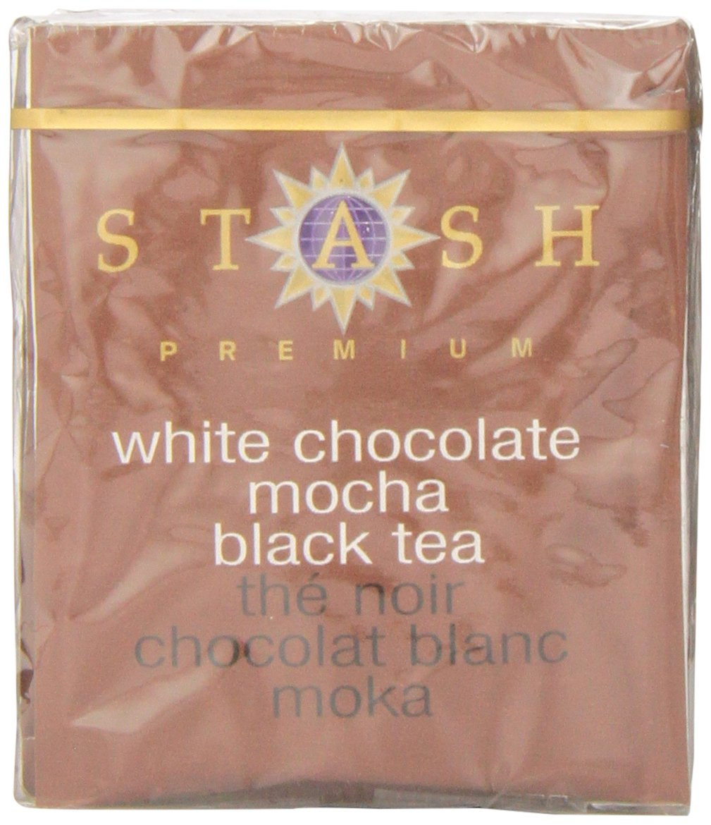 Stash Tea White Chocolate Mocha 10 Count Teabags in Foil (Pack of 12) (packaging may vary) Individual White Tea Bags for Use in Teapots Mugs or Cups, Brew Hot Tea or Iced Tea