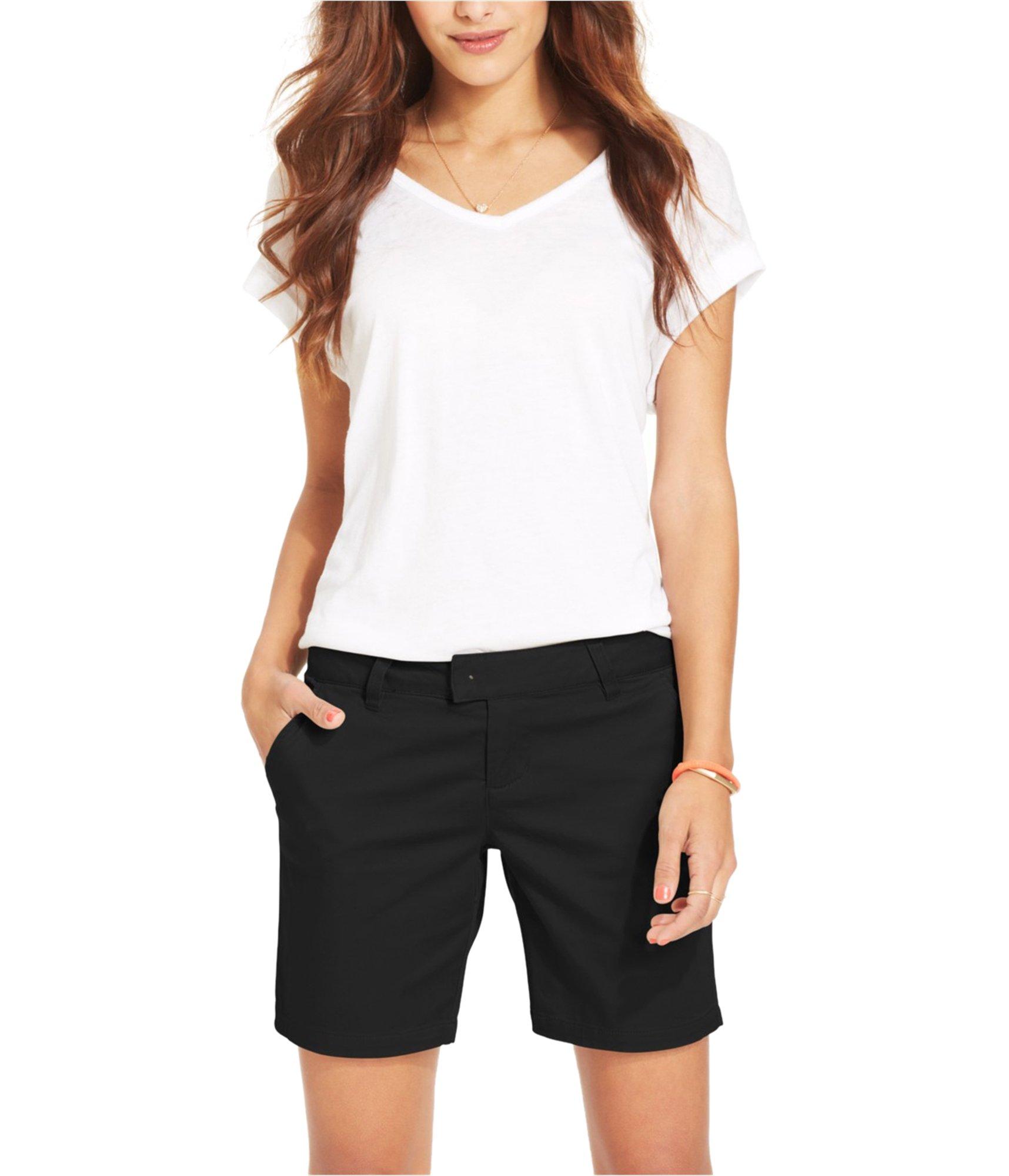 Volcom Womens Frochickie 2.5 inch Casual Chino Shorts Black 13 - Juniors