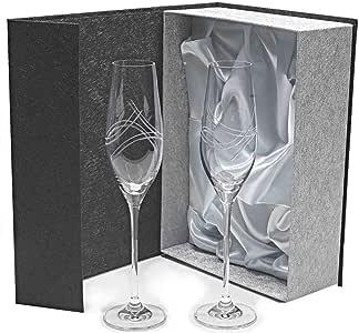 Set de 2 Copas de Cristal para champán - Cava o espumosos ...