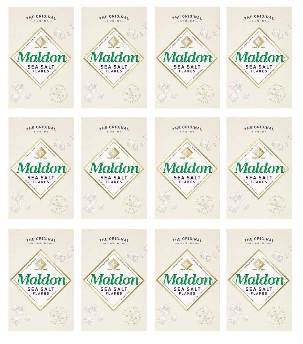 Maldon Sea Salt Flakes, 8.5 ounce Box (Pack of 12)