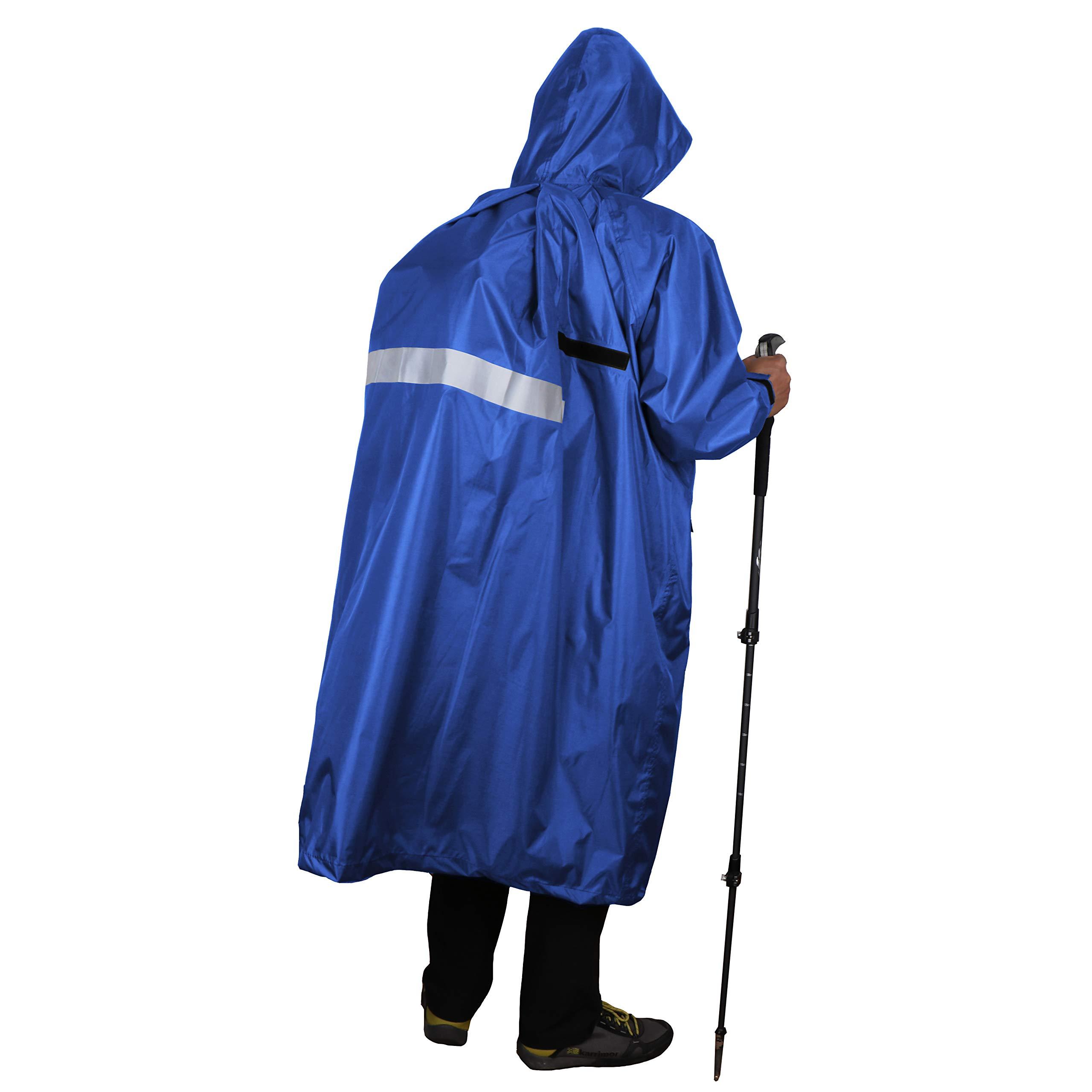 Anyoo Chaqueta Abrigo, Impermeable para la Lluvia, Capas de Peso Ligero Compacto y Reutilizable