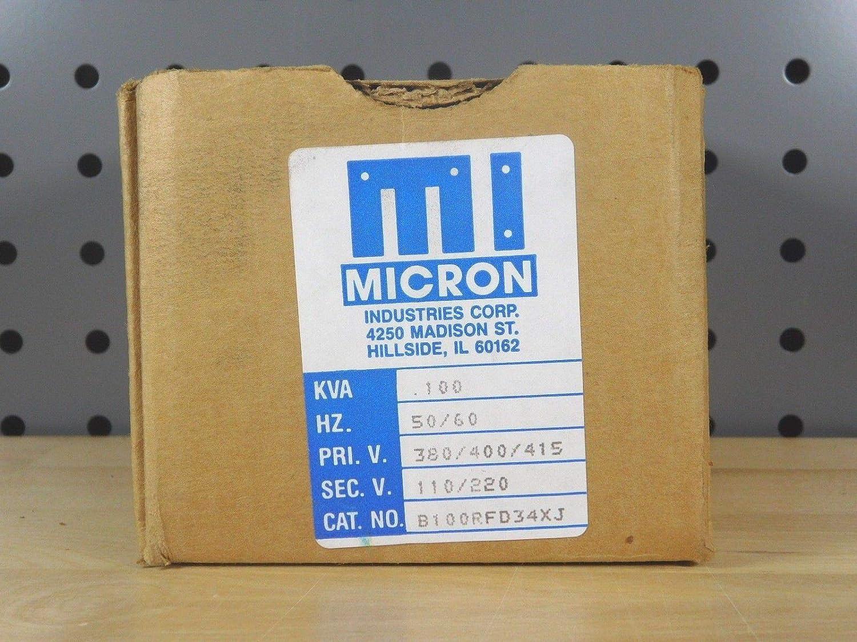 Brand New Micron B100RFD34XJ Control Transformer 380//400//415V 100VA