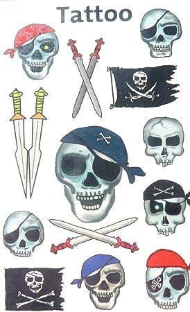 Temporal Pirata & Calavera Tatuajes - Para Niños / Niños Bolsa ...