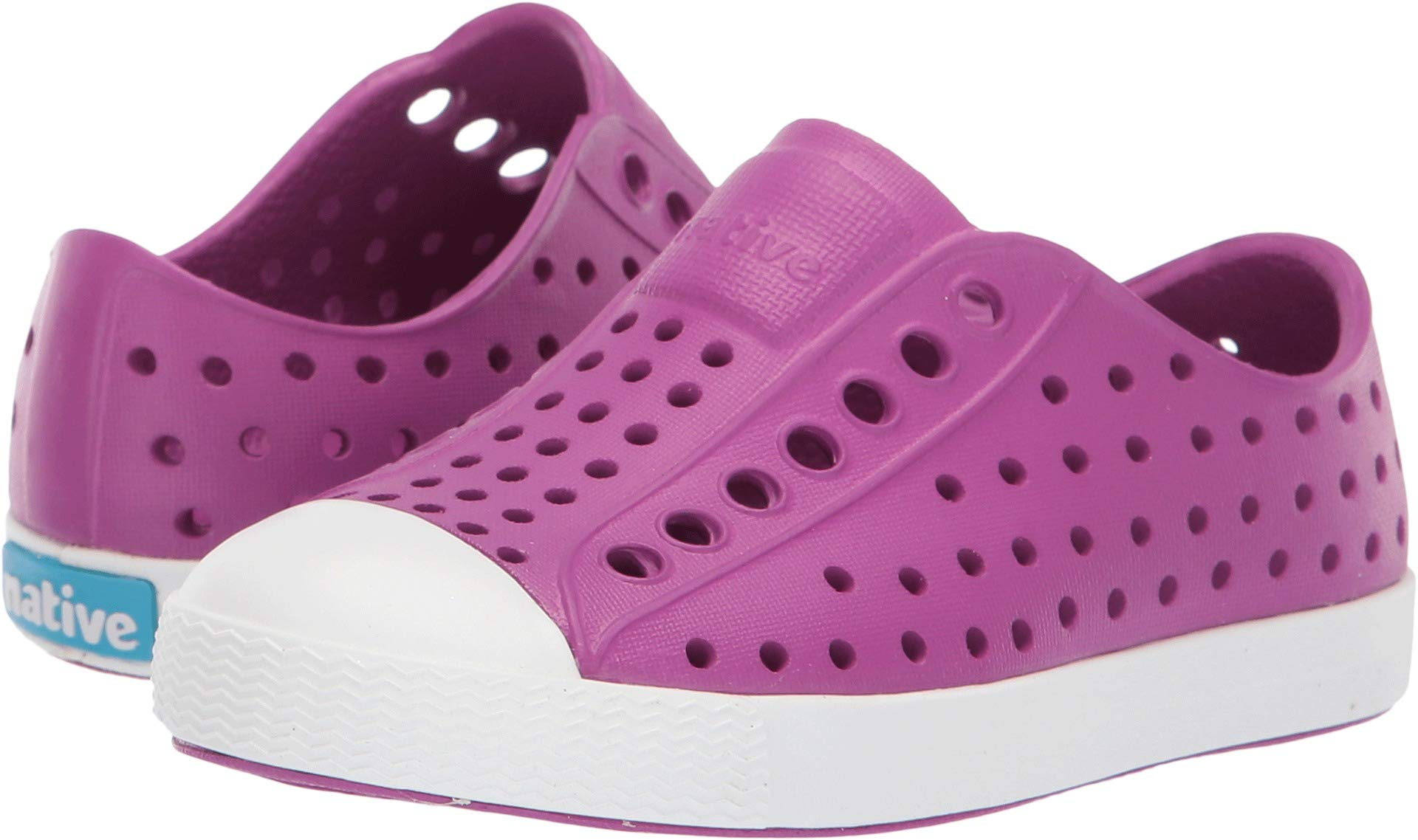 Native Kids Shoes Baby Girl's Jefferson (Toddler/Little Kid) Origami Purple/Shell White 4 M US Toddler