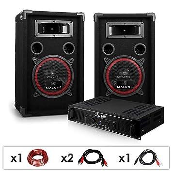 Electronic-Star DJ 12 Set de sonido profesional Altavoces + amplificador: Amazon.es: Electrónica