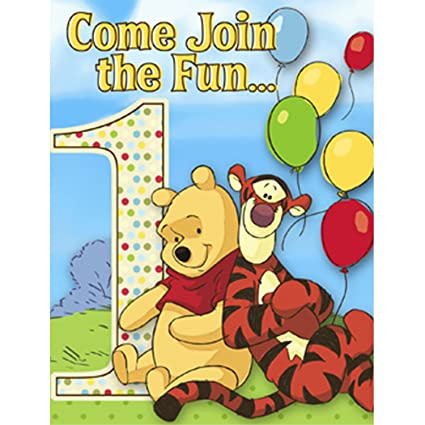 amazon com winnie the pooh and pals boy or girl 1st birthday rh amazon com Winnie the Pooh Border Clip Art Disney Winnie the Pooh Clip Art