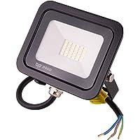 POPP® Foco Proyector LED 10W para uso Exterior Iluminación Decoración 6000K luz fria Impermeable IP65 Negro y Resistente…