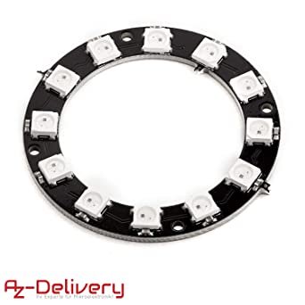 AZDelivery RGB LED Ring WS2812B 5V 12-Bit 50mm para Arduino eBook ...