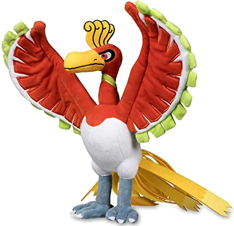 97cc213c Image Unavailable. Image not available for. Color: Pokemon Center Original  (13.75-Inch) Ho-Oh Stuffed Poke Plush Doll (