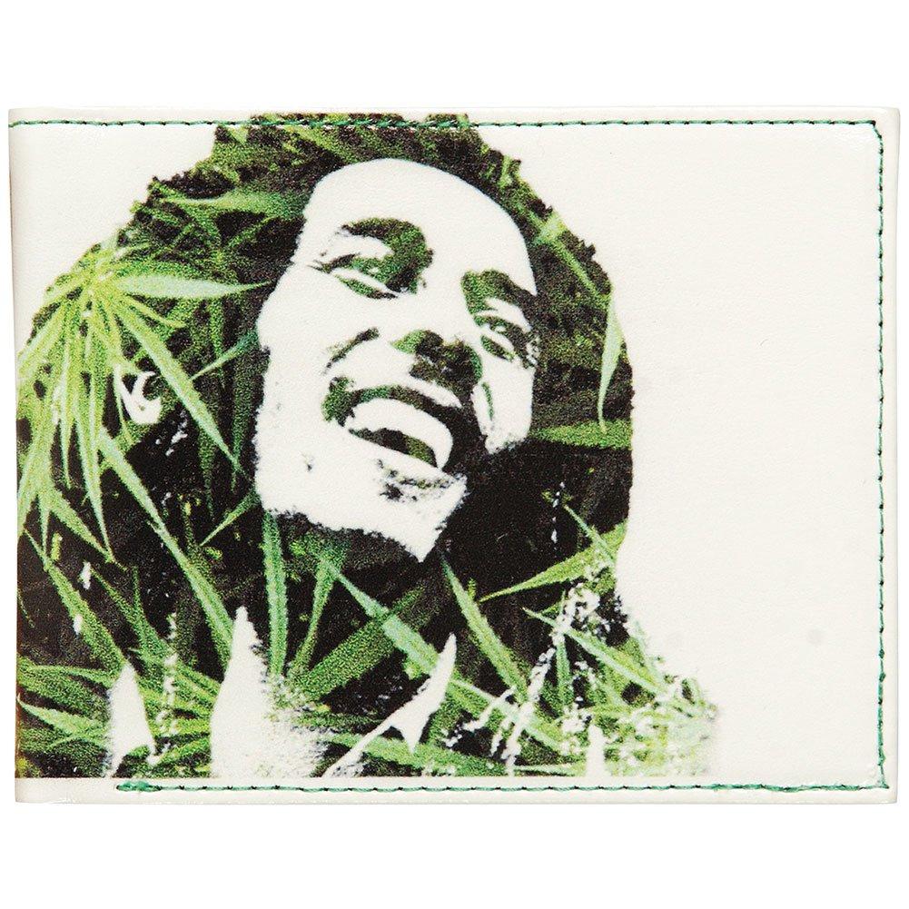 Bob Marley Men's Leaves Dreads Bi-Fold Wallet White