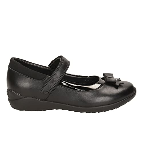 9811b380f Clarks Girls School Shoes Ting Fever - Black Leather - UK Size 10.5H - EU