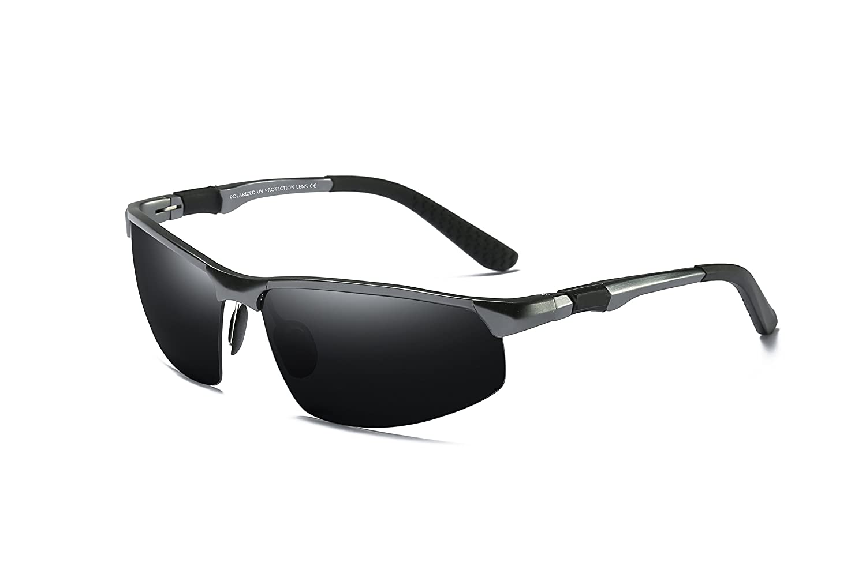 WHCREAT Gafas De Sol Polarizadas De Conducción Para Hombres Gafas De Deporte Al Aire Libre Marco Irrompible AL-MG