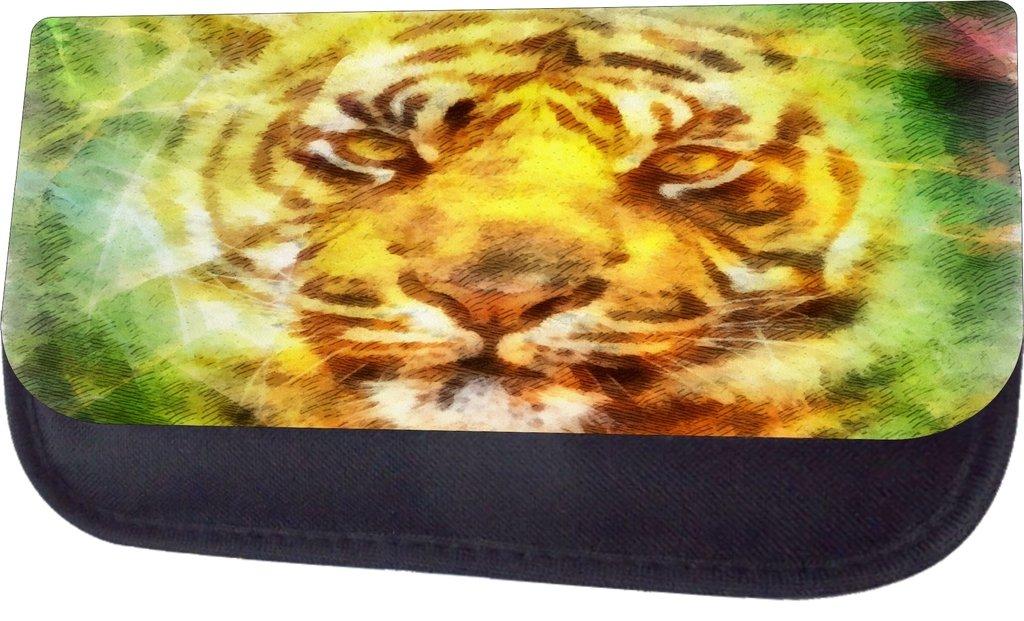 Pencil Case Set Watercolor Tiger Cub Art-TM School Messenger Bag