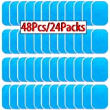 OHYAIAYN 48pcs Gel Sheets for Gel Pad, Abs Trainer Replacement Gel Sheet Abdominal Toning Belt Muscle Toner Ab Trainer Access