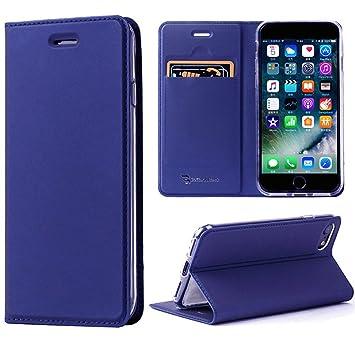 75e2dd42fb Amazon   【改善版】 iPhone8 ケース / iPhone7ケース 手帳型 薄型 ...