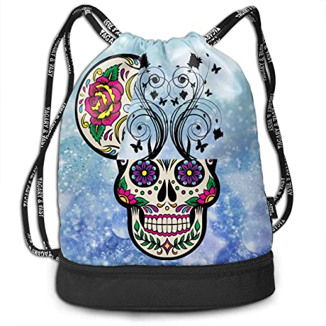 Image Unavailable. Image not available for. Color  TREEWw Beautyfull Cute  Sugar Skull Men   Women Sport Gym Sack Drawstring Backpack Bag 15ebf2a02c