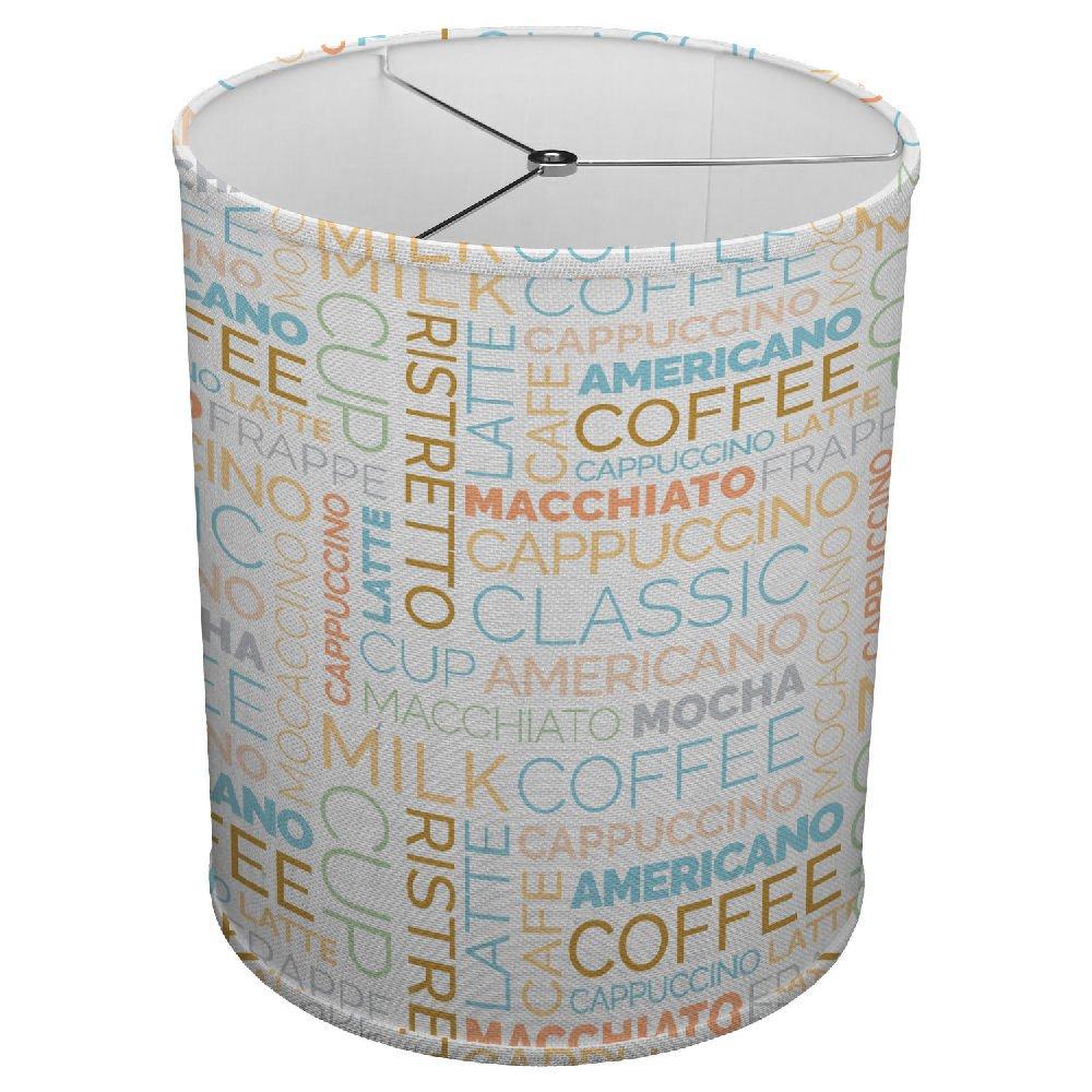 Hardback Linen Drum Cylinder Lamp Shade 8'' x 8'' x 8'' Spider Construction [ Coffee Mocha Love ]