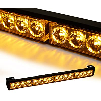 "V-SEK Auto Truck 18"" LED Traffic Advisor/Advising Emergency Vehicle Directional Warning Strobe Light Bar (Yellow/Amber): Automotive"