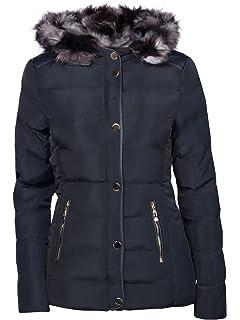 OHH Fashion Damen Winter Jacke GEFÜTTERT STEPP DAUNEN Optik