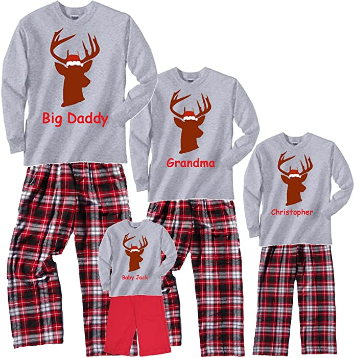 a90b454761 Footsteps Clothing Personalized Christmas Buck Grey Shirt Pant Set - 2T